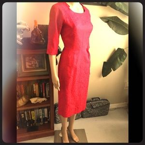 Vintage 50s Painting the Roses Red Dress